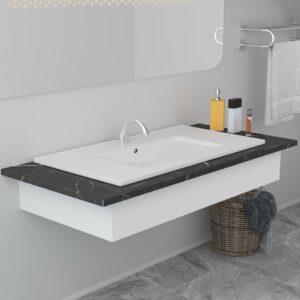Lavatório embutido 80,5x46,3x17,5 cm cerâmica branco - PORTES GRÁTIS