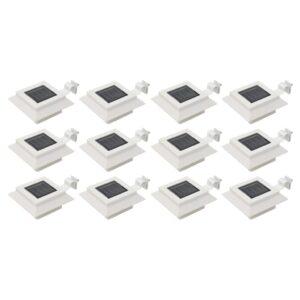Candeeiro de exterior solar LED 12 pcs branco quadrado 12 cm - PORTES GRÁTIS