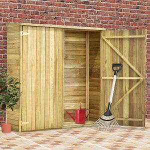 Abrigo p/ ferramentas de jardim 163x50x171 cm pinho impregnado - PORTES GRÁTIS