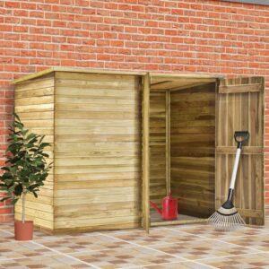 Casa/abrigo 232x110x170 cm madeira de pinheiro impregnada - PORTES GRÁTIS