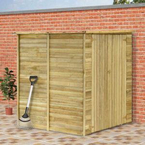 Casa/abrigo jardim 157x159x178 cm madeira de pinho impregnada - PORTES GRÁTIS