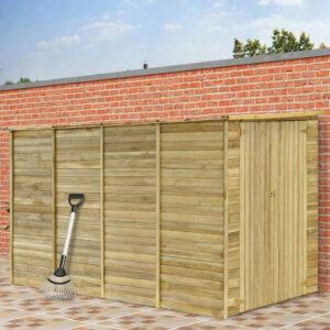 Casa/abrigo jardim 315x159x178 cm madeira de pinho impregnada - PORTES GRÁTIS