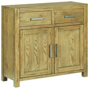 Aparador 90x35x83 cm madeira de carvalho rústica - PORTES GRÁTIS