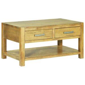 Mesa de centro 90x55x47 cm madeira de carvalho rústica - PORTES GRÁTIS