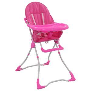 Cadeira de refeição para bebé rosa e branco  - PORTES GRÁTIS