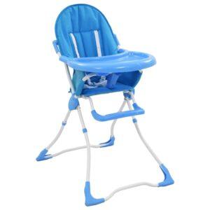 Cadeira de refeição para bebé azul e branco   - PORTES GRÁTIS