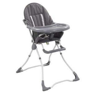 Cadeira de refeição para bebé cinzento e branco   - PORTES GRÁTIS