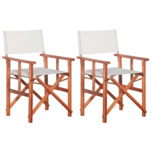 Cadeiras de realizador 2 pcs madeira de acácia sólida - PORTES GRÁTIS
