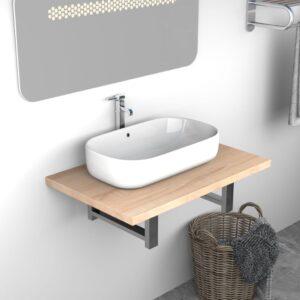 Móvel de casa de banho 60x40x16,3 cm cor carvalho  - PORTES GRÁTIS