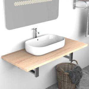 Móvel de casa de banho 90x40x16,3 cm cor carvalho  - PORTES GRÁTIS