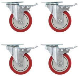 8 pcs rodas giratórias 100 mm - PORTES GRÁTIS