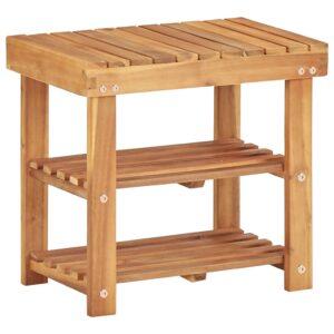 Sapateira 50x32x45 cm madeira de acácia maciça - PORTES GRÁTIS