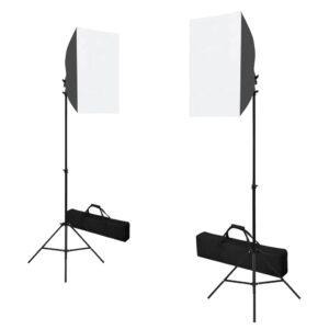 Iluminação de estúdio profissional 2 pcs 40x60 cm aço preto - PORTES GRÁTIS