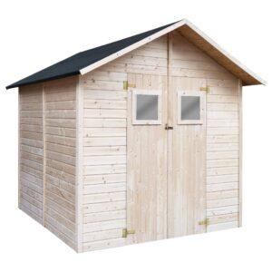 Abrigo de arrumação para jardim 226x248x218 cm madeira - PORTES GRÁTIS
