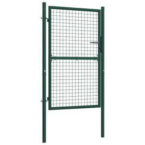 Portão de cerca 100x200 cm aço verde - PORTES GRÁTIS