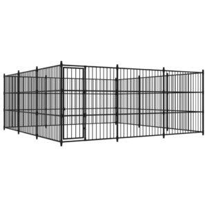 Canil de exterior 450x450x185 cm - PORTES GRÁTIS
