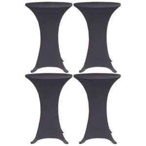 Capa extensível para mesa 4 pcs 80 cm antracite - PORTES GRÁTIS