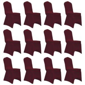 Capa para cadeira elástica 12 pcs bordô - PORTES GRÁTIS