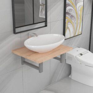 Conjunto de móveis de casa de banho 2 peças - PORTES GRÁTIS