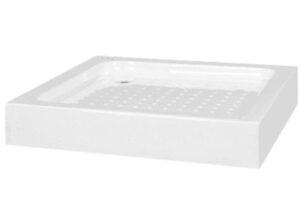 Base de chuveiro 80x80x13,5 cm acrílico branco - PORTES GRÁTIS