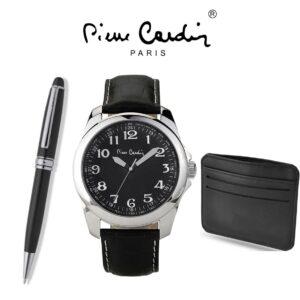 Conjunto Pierre Cardin® PCX7897G14   Relógio   Carteira   Caneta