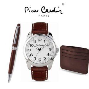 Conjunto Pierre Cardin® PCX7896G13   Relógio   Carteira   Caneta