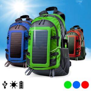 Mochila Carregadora com Painel Solar 6.5W | 3 Cores