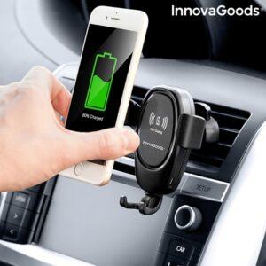 Suporte de telemóvel com carregador sem fios para automóveis | Wolder