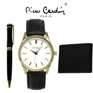 Conjunto Pierre Cardin® PCX7952G17   Relógio   Carteira   Caneta