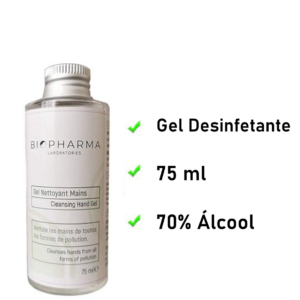 Gel Desinfetante Laboratório Biopharma 75 ml | Com 70% de Álcool
