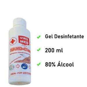 Gel desinfectante Viru Med 200 ml | Con 80% de alcohol
