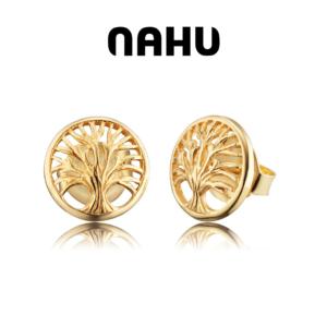 Brincos Nahu Prata 925® Nae Edene Gold