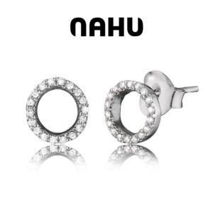 Brincos Nahu® Nae  Monaco Silver