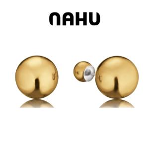 Brincos Nahu Prata 925® Nae Moscow Gold