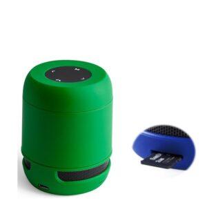 Altifalante Bluetooth - Cartões de Memória - Bateria de lítio Recarregável 3W USB Verde