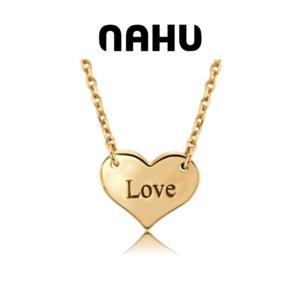 Colar Nahu Prata 925® NAN-HEART-GV-G