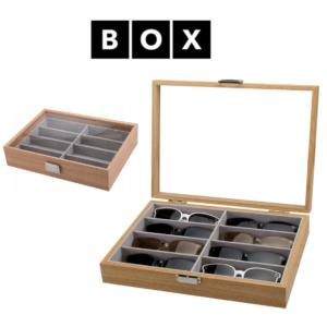Caixa de Arrumação para 8 Óculos | Acabamento Premium | Madeira | PDMDF07