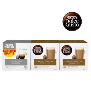 48 Cápsulas de café | Nescafé Dolce Gusto Cafe Au Lait Ristretto Barista