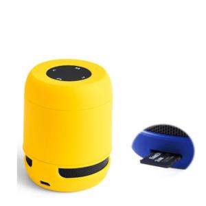 Altifalante Bluetooth - Cartões de Memória - Bateria de lítio Recarregável 3W USB Amarelo
