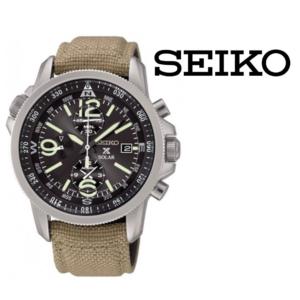 Relógio Seiko® SSC293P1 Prospex Solar Cronógrafo Military