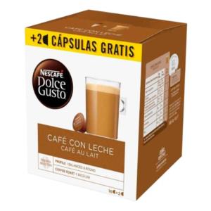 18 Cápsulas de café | Nescafé Dolce Gusto Cafe au lait