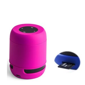 Altifalante Bluetooth - Cartões de Memória - Bateria de lítio Recarregável 3W USB Fúchsia