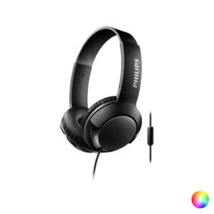 Auscultadores com microfone Philips SHL3075/10 BASS+ 40 mW (3.5 mm) Preto