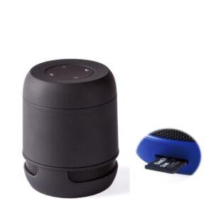 Altifalante Bluetooth - Cartões de Memória - Bateria de lítio Recarregável 3W USB Preto