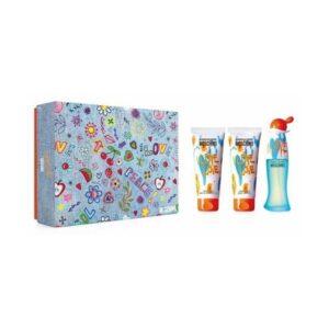 Conjunto de Perfume Mulher Cheap And Chic I Love Love Moschino (3 pcs)