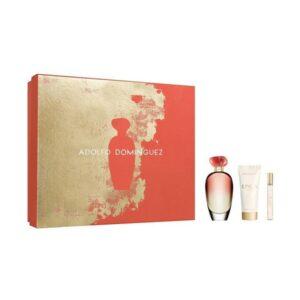 Conjunto de Perfume Mulher Unica Coral Adolfo Dominguez (3 pcs)