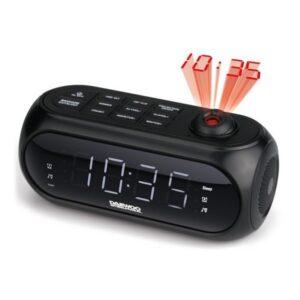 Rádio-despertador com Projetor LCD Daewoo DCP-490 180º FM Preto