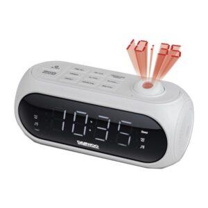 Rádio-despertador com Projetor LCD Daewoo DCP-490 180º FM Branco