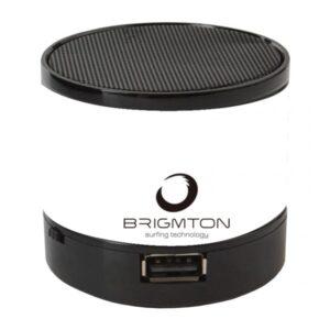 Altifalante Bluetooth BRIGMTON BAMP-703 3W FM Branco