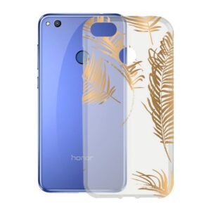 Capa para Telemóvel Honor 8 Lite KSIX Flex TPU Transparente Dourado